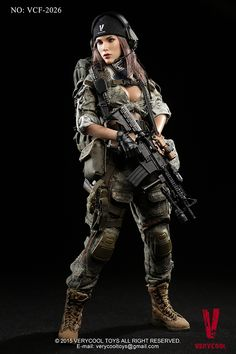 """1//6 Summer Militaire Tactique Tenues Ensemble 12/"""" pour Hot Toys Phicen figure féminine"""