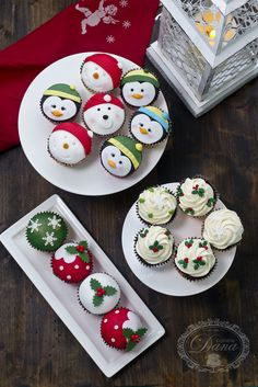Christmas cupcakes Cofetaria Dana