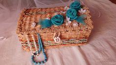 плетение из газет сундук
