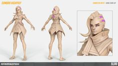 Overwatch Sombra high poly, Hong Chan Lim on ArtStation at https://www.artstation.com/artwork/3BywB