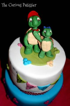 Franklin the Turtle and Harriet - Cake by TheCuriousPatissier
