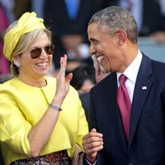 The Queen clowned around in a yellow toque as she took a break with President Barack Obama at the 70th anniversary of the D-Day Landings in Normandy.
