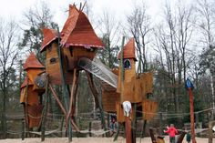 """""""This playground in Hoenderloo, Netherlands' Landal Miggelenberg park, which would look more at home in the pages of a Dr. Seuss book than it does in the real world, just begs to be celebrated. I'd want to play there."""