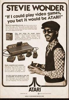 stevie wonder atari Epic Adverts: Stevie Wonder Plays Atari Video Games