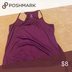 Loose fit active top Purple loose fit active/workout top. Not clingy at all but does have a drawstring at the bottom that can cinco it in tighter. Wore once. Old Navy Tops Tank Tops