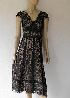 Vintage Lace Dress/  Black Lace Illusion Bohemian by luvofvintage, $58.00
