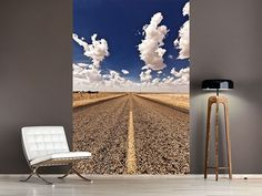 Foto #Tapete On The Road The Road, Home Decor, Photos, Fabric Wall Coverings, Dekoration, Self Adhesive Wallpaper, Beautiful Landscapes, Hanging Wallpaper, Wall Papers
