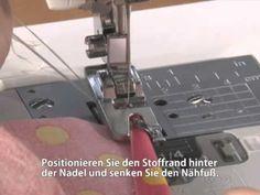 Brother Zubehör Rollsaumfuß - YouTube