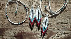 Native American Style Beaded Feather Necklace by tredens82 on Etsy