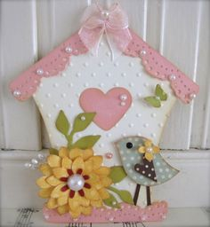 2/7/2012; VSROSES website; One of a kind hand made paper crafts Spring Bird House