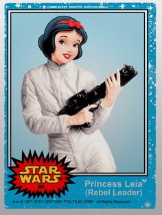Princess Leia Trading Card Print by Blunt Graffix World Premier Exclusive