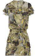 Skaist-Taylor Ruffled butterfly-print silk-chiffon dress NET-A-PORTER.COM