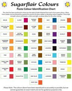 14 Best Fondant Colour Chart Images Colour Chart Food Coloring