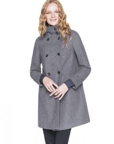 Double breasted coat - OVERCOATS - COATS & JACKETS - WOMAN