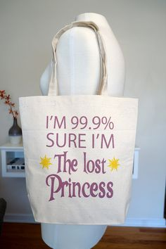 tangled tote bag, rapunzel, lost princess, 99.9 percent princess, floating lanterns, disney tote bag, disney, tangled from rachelwalter on Etsy #rapunzel #me