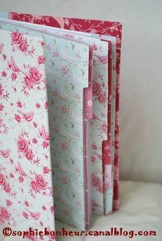 Habillage de classeur tissu et carton