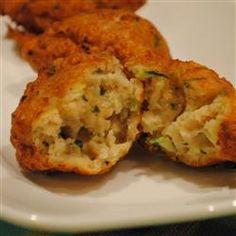 Zucchini and Razor Clam Fritters Allrecipes.com