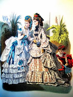 Belle époque Fashion plate, ca. 1872