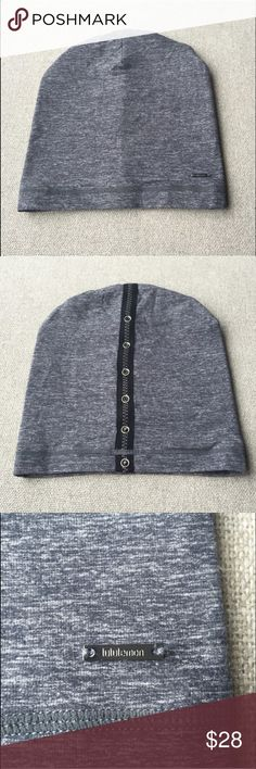 Lululemon Hat Lululemon heather grey performance stretch hat with adjustable snaps down the back. Snug fit, great for running. Worn once. lululemon athletica Accessories Hats
