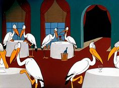 The inside of the Stork Club | A Hare Grows in Manhattan (1947), a Bugs Bunny cartoon directed by Friz Freleng