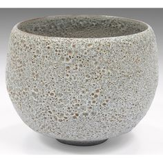 """Gertrud & Otto Natzler small bowl, glazed earthenware with textured burst-bubble glaze, signed """"Natzler"""", 4.5""""dia x 3.5""""h, two small chips to foot, very good original condition"""