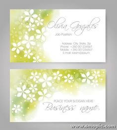 Free light green abstract pattern business card cover background design template illustrator EPS file to download
