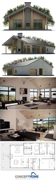 23 best koncepty images on Pinterest Modern homes, Small houses