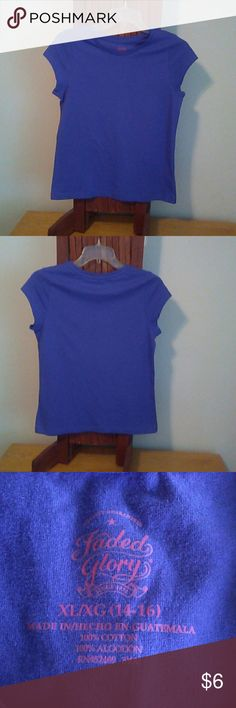 XL/XG(14-16) Faded glory top NWOT Pretty purple summer top. 100% cotton Faded Glory Tops Tees - Short Sleeve