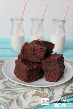 Paleo Double Chocolate Brownies - www.PaleoCupboard.com