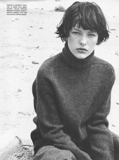 Mila Jovovich shot for Vogue in a RAD sweater