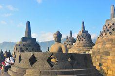 Borobudur top terrace Buddha statue - copyright architectureofbuddhism.com - read the travel diary at http://architectureofbuddhism.com/books/temples-borobudur-region-travel-diary-day-one/ #architecture #buddhism #indonesia