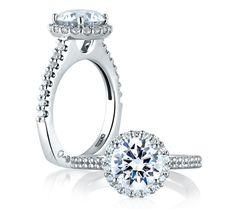 Signature Round Halo Engagement Ring almost exactly like my ring ahaahahahahahhahaha