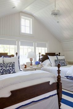 Coastal Style Patrick A Hearn Architect - Click through to find more beautiful coastal inspired rooms! #coastalbedroomsbedding