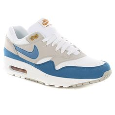Nike Air Max 1 Shoes - Summit White-Shaded Blue