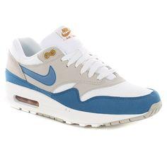 Nike Air Max 1 Shoes - Summit White-Shaded Blue