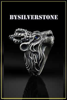 Rings for Men Mens Silver Rings, Silver Gifts, Silver Man, Earring Trends, Jewelry Trends, Blue Topaz Ring, Summer Jewelry, Clothing Styles, Men Cave