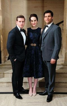 Allen Leech, Michelle Dockery and Rob James Collier