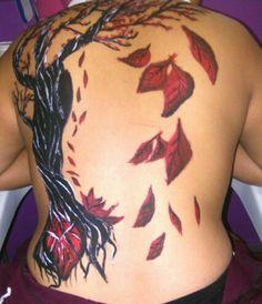 Body paint en espalda