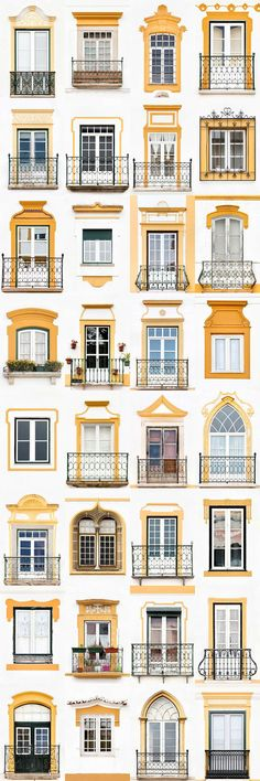 I Travelled All Over Portugal To Photograph Windows, And Captured More Than 3200 Of Them - Bilder für Sie - Picgram Website Bungalow House Design, House Front Design, Facade Design, Exterior Design, Minimalist Window, Facade House, Window Design, Beautiful Buildings, Windows And Doors