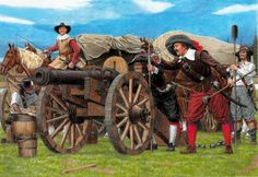 Imperial artillery crew, Thirty Years War                                                                                                                                                                                 More