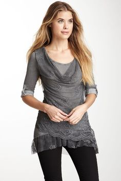 Luma Italian Knitwear Scoop Neck Tunic Top by Non Specific on @HauteLook
