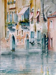 Predrag Pedja Milosevic - Venecija (watercolor painting)