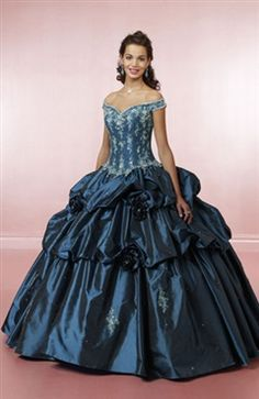 Off-the-shoulder Ball Gown Floor-length Applique Sweet 16 Style Code: 00921 $249