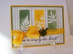 Easy card to use for many different occasions - Penny Black stamps