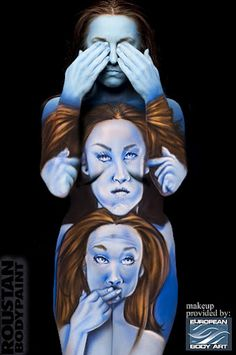 See no evil, hear no evil, speak no evil... by Paul Roustan.