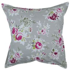 Our Rose Garden scatter cushion has a delicate design of a rose flower bouquet; elegant and quaint in pink and taupe with a linen-look back Scatter Cushions, Beautiful Bedrooms, Taupe, Bouquet, Delicate, Pillows, Elegant, Rose, Garden