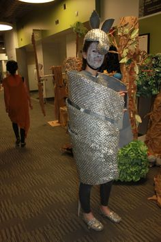 Our pop tab armadillo costume.  First Place World Finals Odyssey of the Mind.