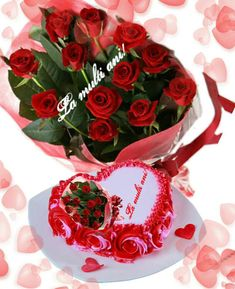 Special Flowers, Beautiful Roses, Happy Birthday, Cake, Desserts, Happy Brithday, Tailgate Desserts, Deserts, Urari La Multi Ani