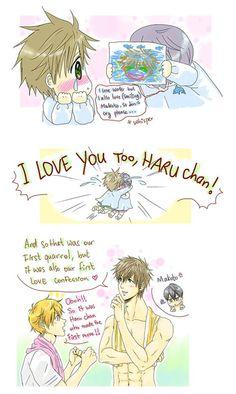Draw what you love part 3... Drawn by racyue ... Free! - Iwatobi Swim Club, haruka nanase, haru nanase, haru, nanase, haruka, makoto tachibana, makoto, tachibana, free!, iwatobi, nagisa hazuki, nagisa, hazuki
