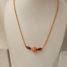 Matte Chain with real Coral Mangalsutra. This design has higher quality gold polish with matte finish. Gold Mangalsutra Designs, Gold Earrings Designs, Gold Jewellery Design, Silver Earrings, Silver Jewelry, Unique Jewelry, Jewelry Ideas, Jewelry Rings, Silver Jewellery Indian